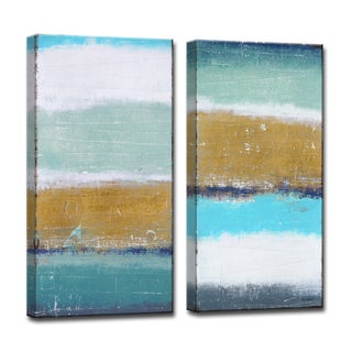 Ready2HangArt 2-piece 'Coastal Shores' by Norman Wyatt Jr. Canvas Art