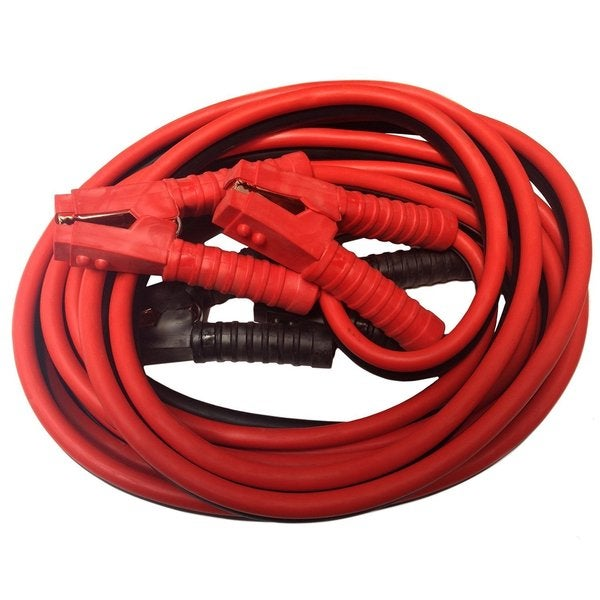 Premium 25-foot 800-amp Heavy Duty Red Jumper Booster Cables with No Tangle Design