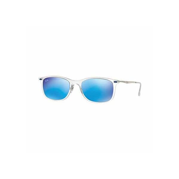 Ray-Ban New Wayfarer Light Ray Gunmetal Sunglasses, Red Lenses - Rb4225 8053672405538