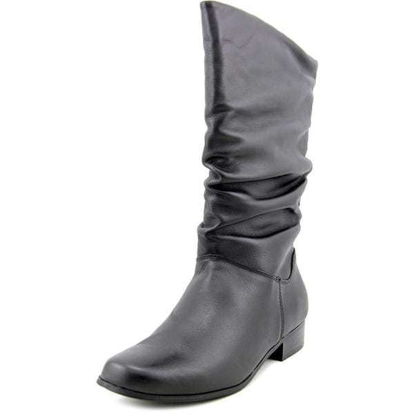 st s bay s black leather boots