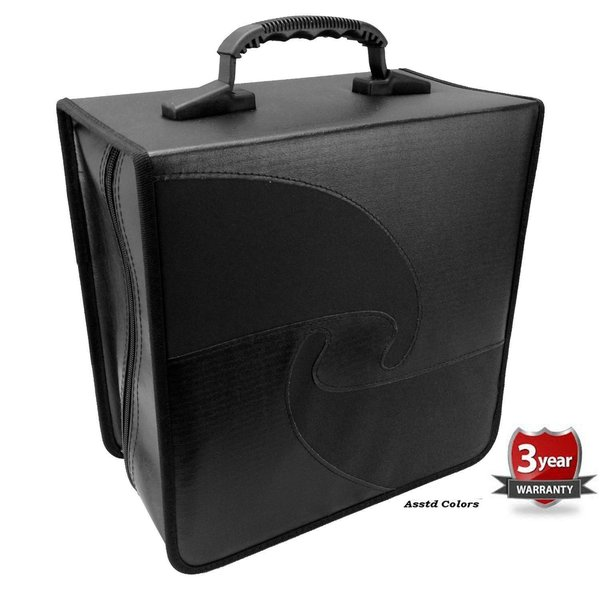 Black Vinyl 500-capacity Compact Disc CD Storage Wallet
