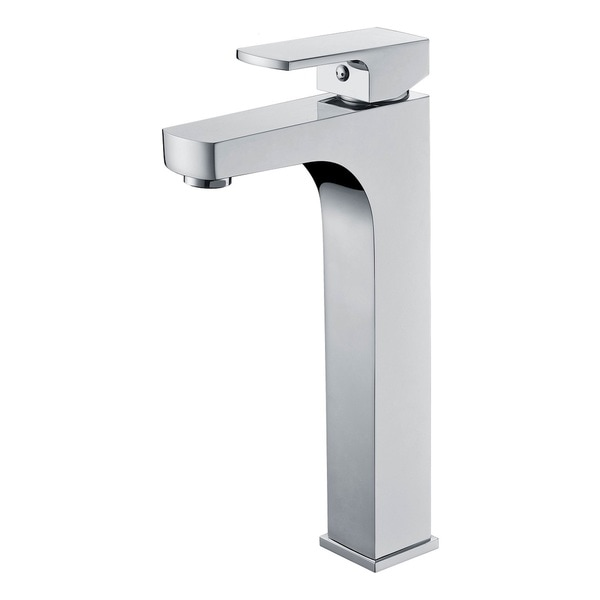 Lewis Style Brushed Nickel Brass/Stainless Steel Square-design Single-hole Lever Vanity Faucet