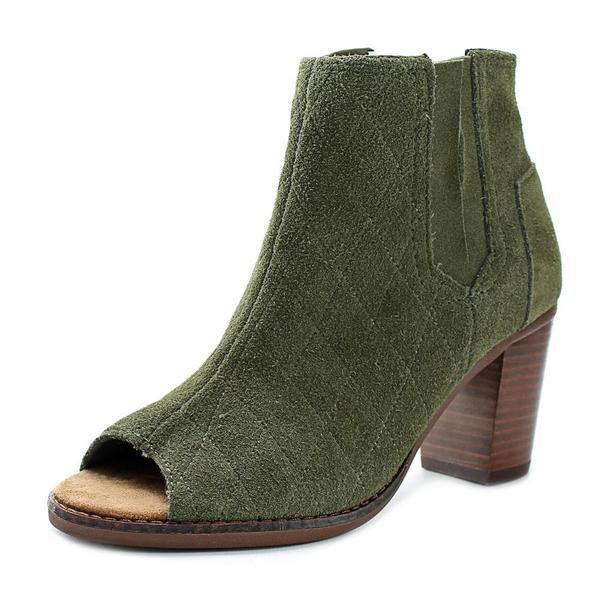 Toms Women's Majorca Green Suede Open-toed Boots