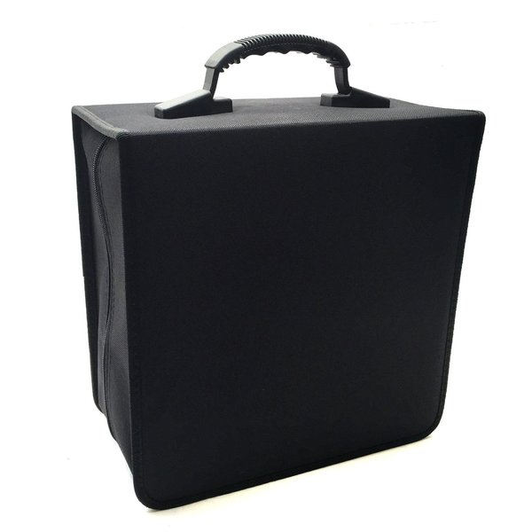 Boostwaves Black Cloth Jumbo 456-disk CD/DVD/Blu-Ray Media Premium Wallet Folder Carrying Case