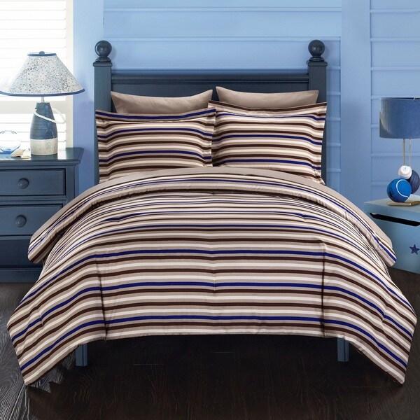 Chic Home Rianne BIB Brown Comforter 7-Piece Set