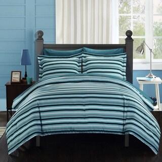 Chic Home Rianne BIB Blue Comforter 7-Piece Set