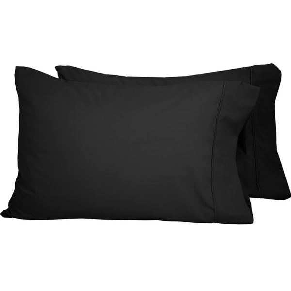 Microfiber Wrinkle Resistant Solid Standard Pillowcases (Set of 2)