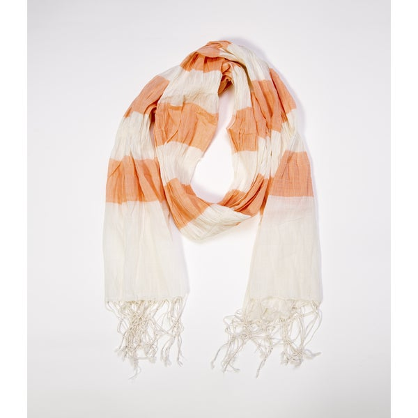 Molly Cotton Scarf - Peach (India)