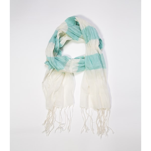 Molly Cotton Scarf - Mint (India)