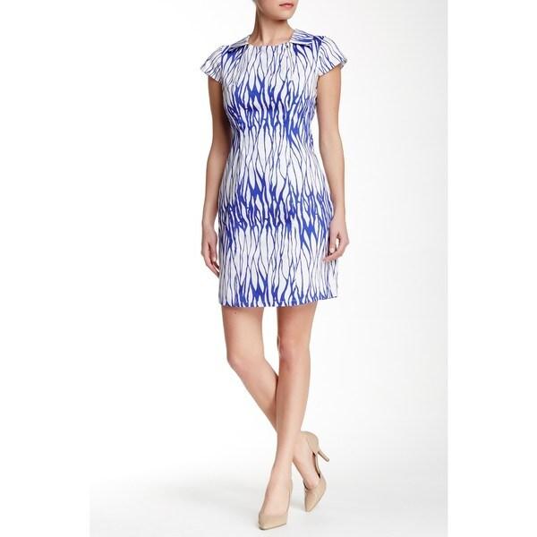 Amelia Short Sleeve Printed Cotton Dress