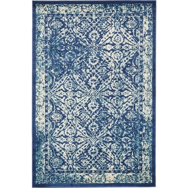 Turkish Copenhagen Navy Polypropylene Rug (6' x 8' 11)
