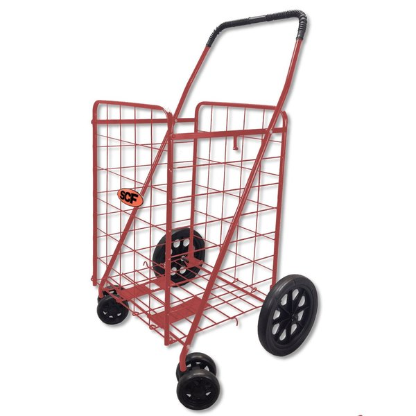 Red Utility/Shopping Cart with Pivot Wheels