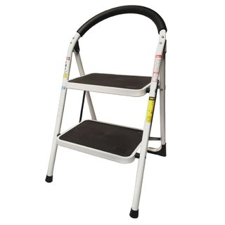StepUp Heavy-duty Steel-reinforced Folding 2-step Ladder Stool - 330-pounds Capacity
