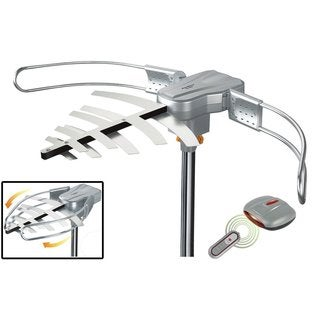 Amplified HD Digital Outdoor Motorized 360-degree Rotation HDTV Antenna and Installation Kit