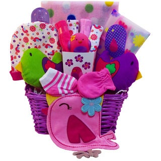 Art of Appreciation Little Birdie New Baby Girl Gift Basket
