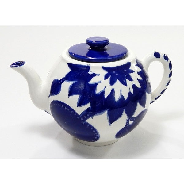 Le Souk Ceramique Jinane Stoneware Teapot (Tunisia)