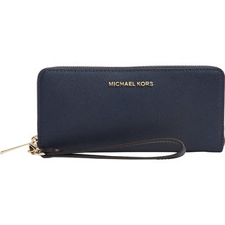 Michael Kors Jet Set Travel Navy Continental Wallet
