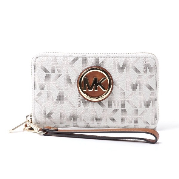 Michael Kors Fulton Vanilla Flat Multifunctional Large Phone Case