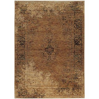 Faded Classic Gold/ Brown Rug (6' 7 x 9' 6)