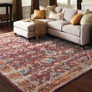 Persian Inspirations Traditional Red/ Gold Rug (6' 7 x 9' 6)