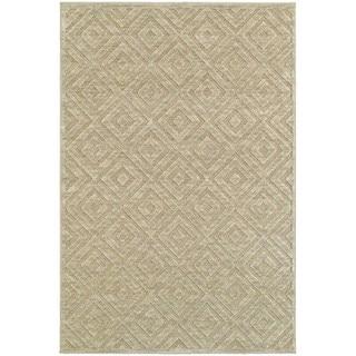 Diamond Plush Sand/ Beige Rug (5' 3 x 7' 6)