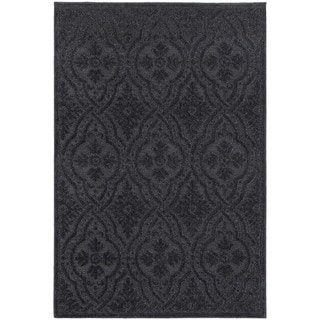 Jacquard Luxe Navy/ Blue Rug (5' 3 x 7' 6)