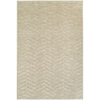 Opulent Chevron Sand/ Beige Rug (5' 3 x 7' 6)