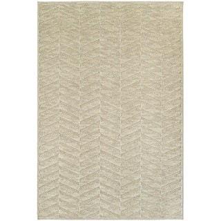 Opulent Chevron Sand/ Beige Rug (6' 7 x 9' 6)
