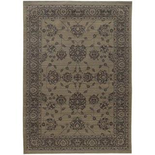 Persian Inspirations Ikat Grey/ Grey Rug (5' 3 x 7' 6)