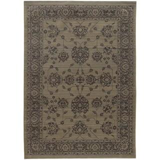 Persian Inspirations Ikat Grey/ Grey Rug (6' 7 x 9' 6)