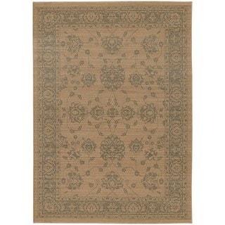 Persian Inspirations Ikat Sand/ Grey Rug (6' 7 x 9' 6)