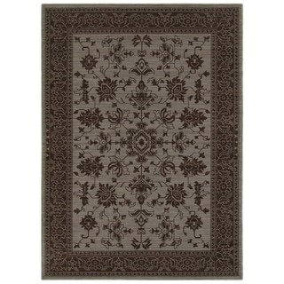 New Traditions Blue/ Grey Rug (5' 3 x 7' 6)
