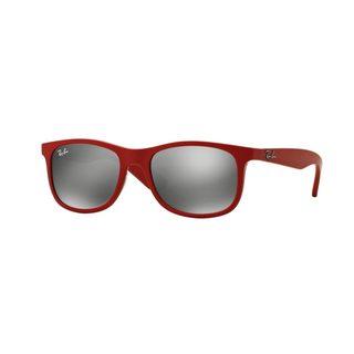 Ray-Ban Junior RJ9062S Red Plastic Rectangle Sunglasses