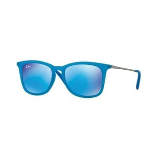 Ray-Ban Junior RJ9063S Blue Plastic Square Sunglasses