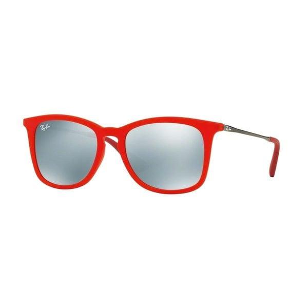 Ray-Ban Junior RJ9063S Red Plastic Square Sunglasses
