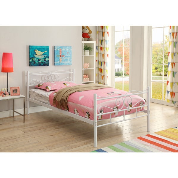 Coaster Company White Twin Bed