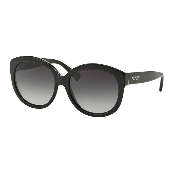 Coach HC8159 L144 500211 Black Womens Plastic Round Sunglasses