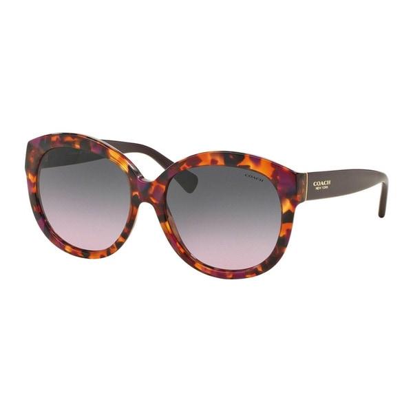 Coach HC8159 L144 533990 Purple Confetti/Purple Womens Plastic Round Sunglasses