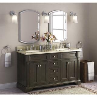 Bryon 60-inch Marble Top Double Bathroom Vanity