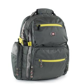 Swiss Gear Breaker 16-inch Grey Polyester Laptop Backpack
