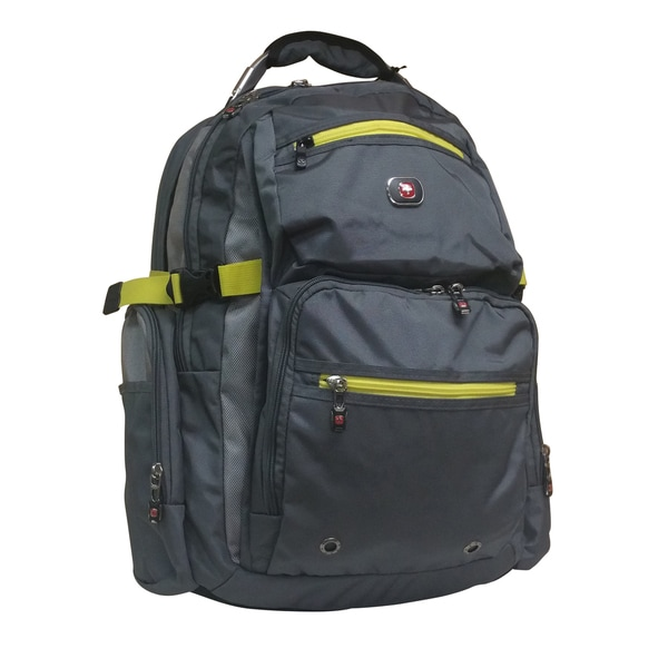 Swiss Gear Breaker 16-inch Grey Polyester Laptop Backpack