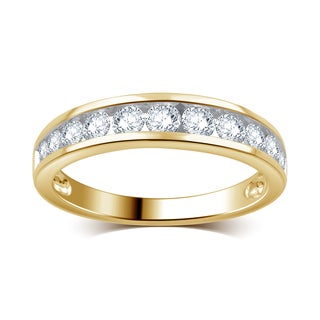 Divina 10k Yellow Gold 3/4ct TDW Round Diamond Wedding Band (I-J, I2-I3)