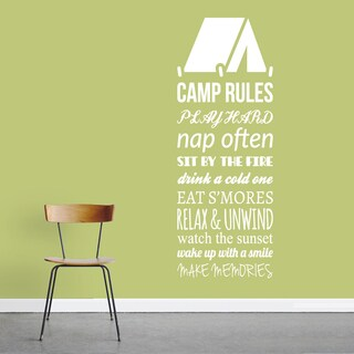Camp Rules Wall Decal - 22 x 60 Inches