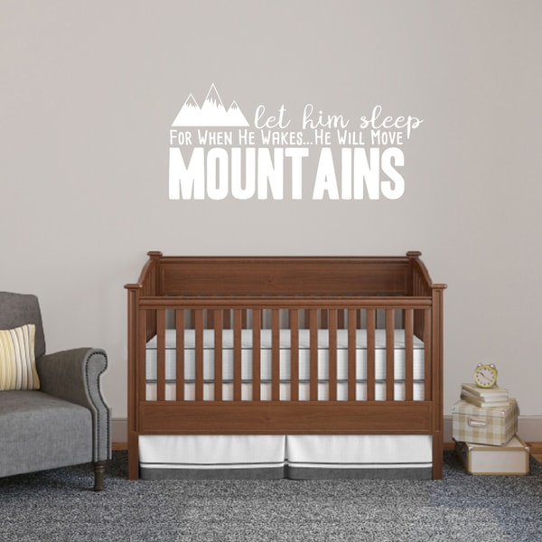 Let Him Sleep For When He Wakes Wall Decal - 48 x 22 Inches