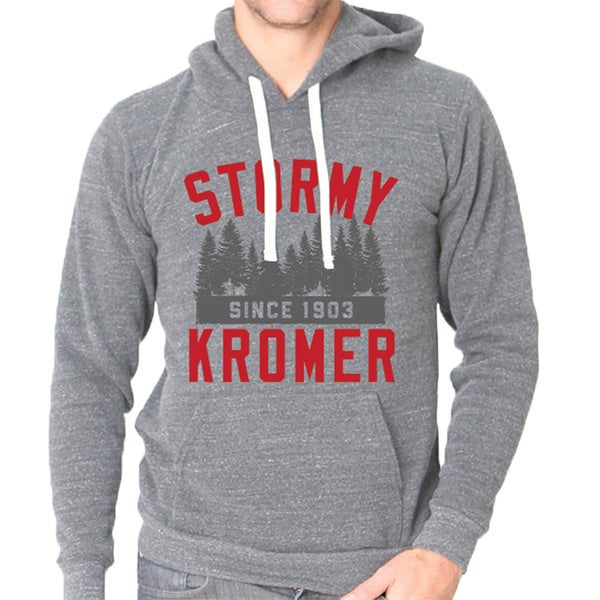 Stormy Kromer Unisex Grey Cotton-blend Tree Graphic Athletic Sweatshirt