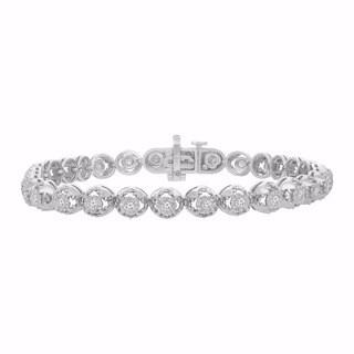 Sterling Silver 1ct TDW Fancy Diamond Bracelet (I-J, I2-I3)