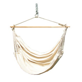 Cotton Fabric Hammock Swing (Beige)