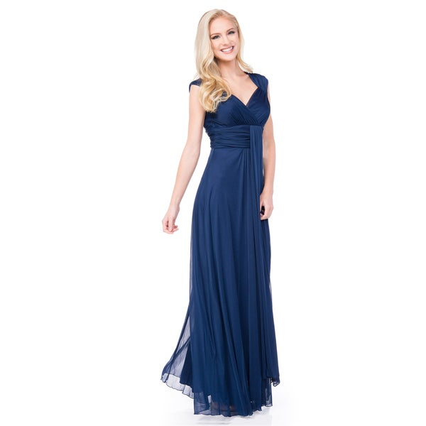 DFI Blue Polyester Bridesmaids' Dress