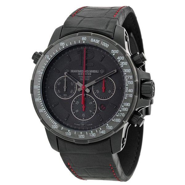 Raymond Weil Men's 7850-BSF-05207 'Nabucco' Chronograph Automatic Black Leather Watch
