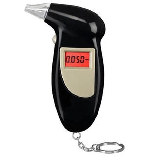 LCD Backlit Display Breathalyzer/Alcohol Tester Keychain